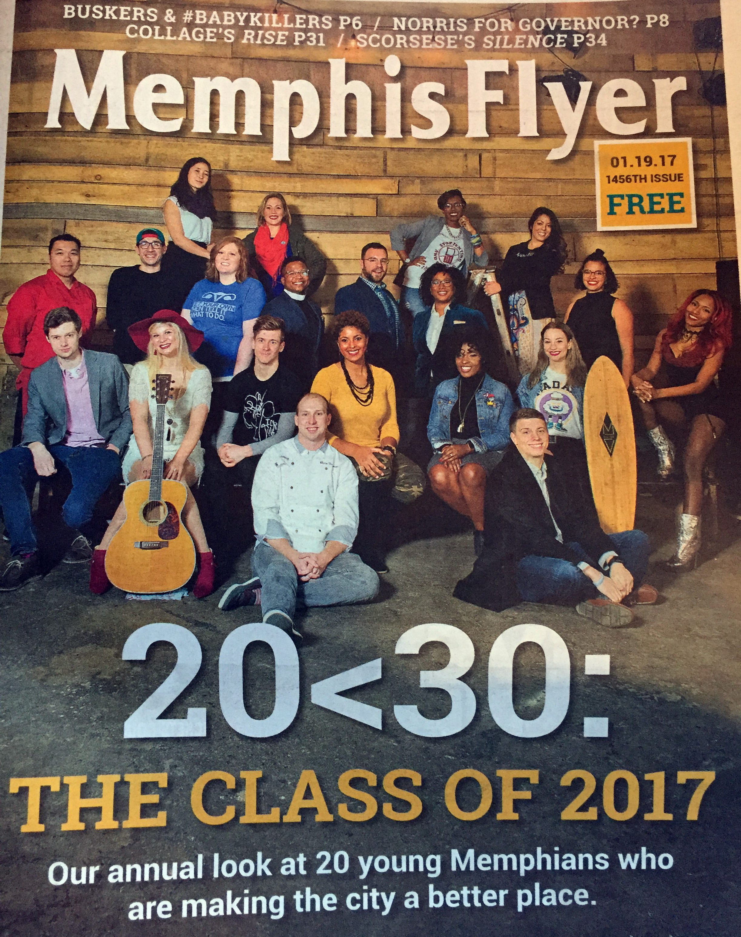 Feature in the Memphis Flyer: 20 Under 30