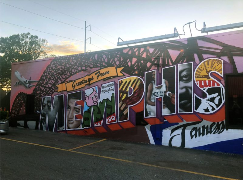 Corky's Greetings Mural